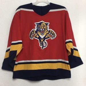 Men CCM Vintage NHL Panthers DALZIEL Jersey Size L